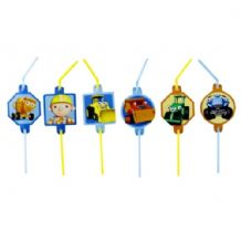 'Bob The Builder' Straws PK8